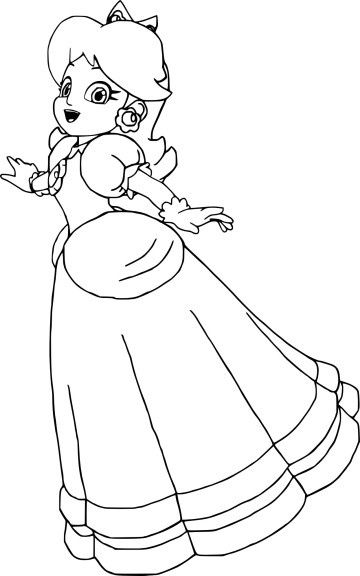 Coloriage Princesse Daisy Sketches
