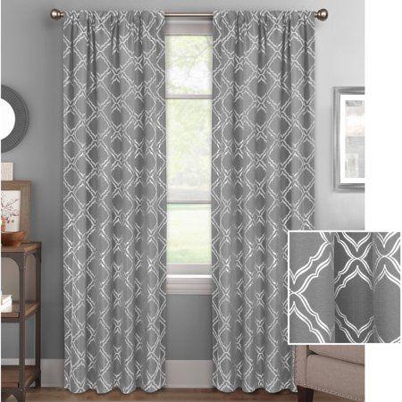7d4b65e400b5fc8b6ae504e532ca20ed - Better Homes & Gardens Metallic Foil Trellis Curtain Panel