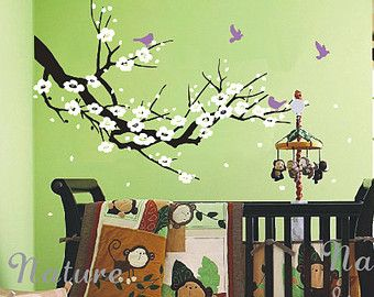 vinyl muur sticker boom kwekerij muur stickers door NatureStyle