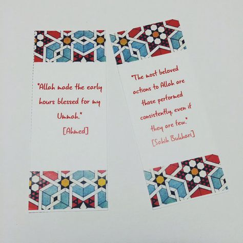 Printable Bookmarks with Islamic