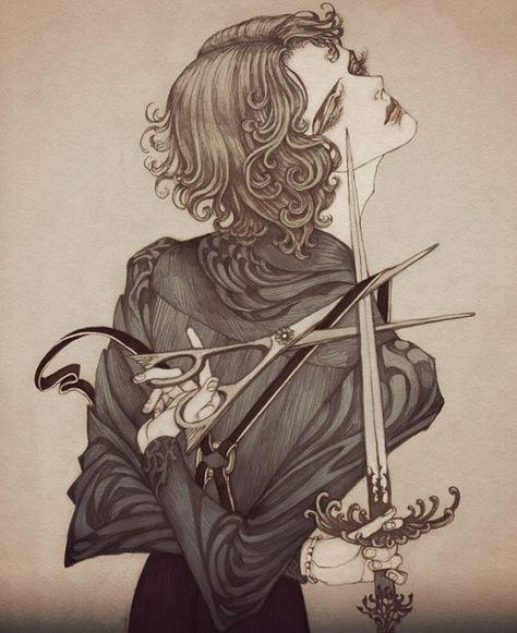 Dark, art nouveau inspired illustrations by Jinnn - ego-alterego.com
