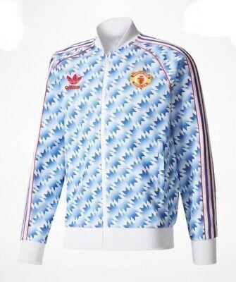 Vintage Adidas Manchester United Retro 1992 Jacket Large Man Utd Football Shirt In 2020 Retro Football Shirts Football Shirts Vintage Adidas