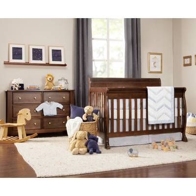 Redmond 4 In 1 Convertible Standard Crib And Changer Combo 3 Piece Nursery Furniture Set Nursery Furniture Sets Nursery Furniture Convertible Crib Espresso