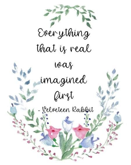 Velveteen Rabbit quote, Everything that is real, children's literature quote, 8 x 10 printable PDF - Wisdom Wit Quotes