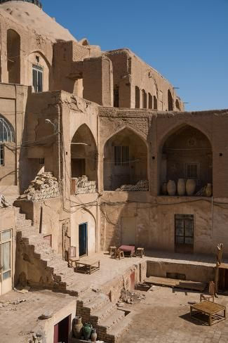middle east destinations Courtyard in the Old Bazaar, Kashan, Iran, Middle East Photographic Print by James Strachan Persian Architecture, Ancient Architecture, Architecture Design, Gothic Architecture, Futuristic Architecture, W Hotel, Travel To Saudi Arabia, Middle East Destinations, In Dubai