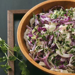 Cilantro Blue Cheese Slaw Recipe from Taste of Home