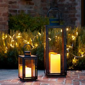 Beautiful Lantern Bundle Battery Operated Candles Indoor And Outdoor Candles Garden Ideas Garden Party With Images Outdoor Candle Lanterns Outdoor Lanterns Candle Lanterns