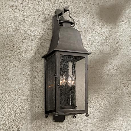 Larchmont 31 1 2 High Aged Pewter Outdoor Wall Light