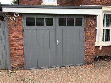 Glazed Side Hinged Garage Doors London Cerberus Doors Uk Garagedeur Serre Garage