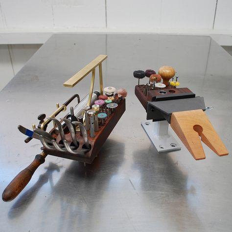 Johnny Ninos handmade organizer for his jeweler's bench. Pretty nifty!