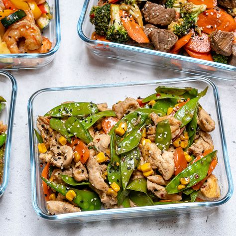 Super-Easy Chicken Stir Fry Recipe for Clean Eating Meal Prep!