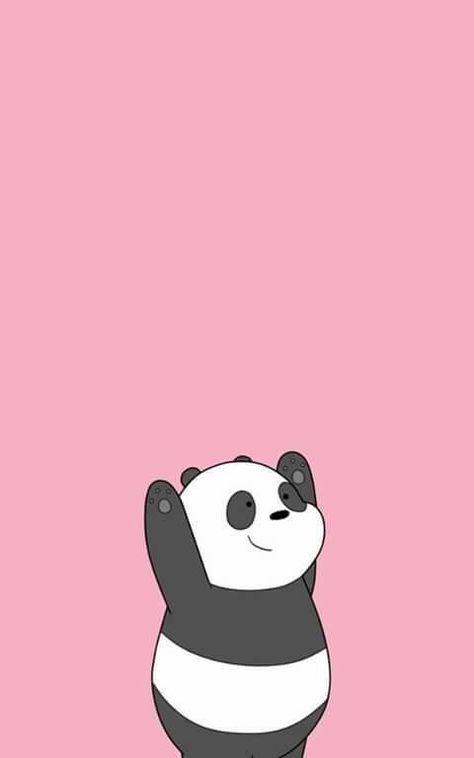 Image About Panda In We Bare Bears By Ana On We Heart It Wallpaper Iphone Lucu Ilustrasi Karakter Wallpaper Anime