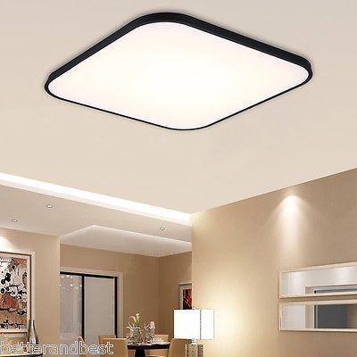30w Dimmable Square Led Flush Mount Ceiling Light For Living Room