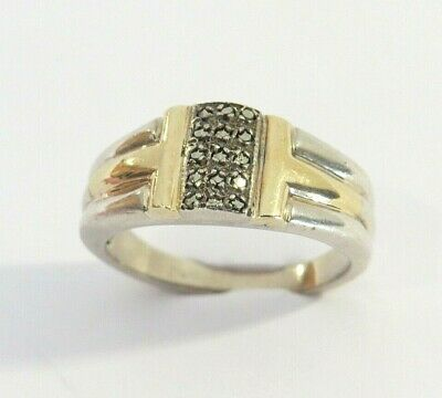 Antique Fesseden Solid 10k Gold Sterling Silver Marcasite Ring Sz 7 Ebay In 2020 Sterling Silver Marcasite Ring Silver
