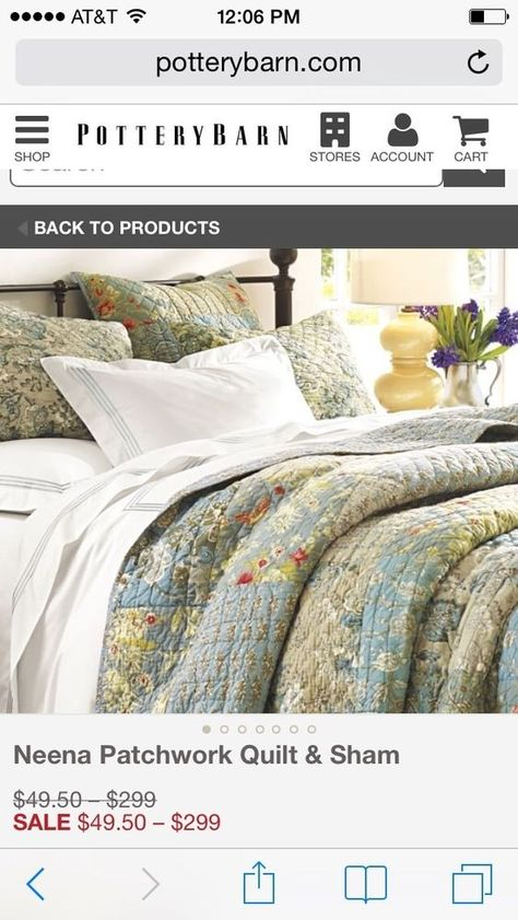 Pottery Barn Carolina Patchwork Paisley King Cal King Quilt 2 Euro Shams New