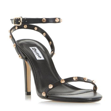 c2f3df5b09 DUNE LADIES MACINTOSH - Studded Strap Stiletto Sandal - black | Dune Shoes  Online
