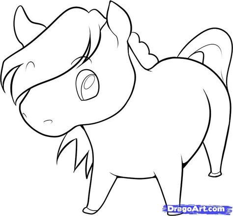 Cute Horse Drawing Cute Horse Pinterest Drawings Easy Cartoon