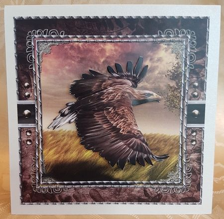 """On Eagles Wing By Kim Norlien Image Size 18/"""" x 26/"""""""