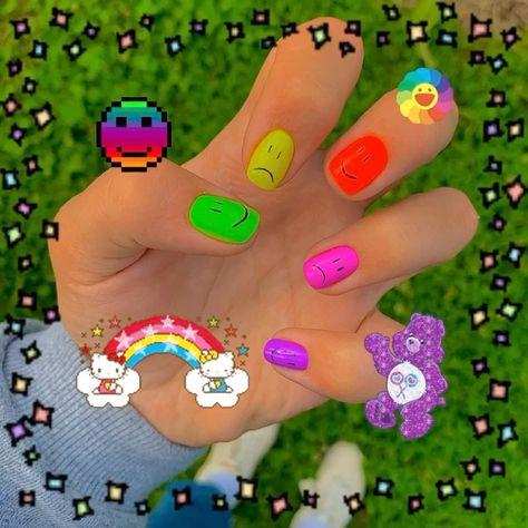 Aycrlic Nails, Bling Nails, Swag Nails, Grunge Nails, Best Acrylic Nails, Summer Acrylic Nails, Pastel Nails, Really Cute Nails, Pretty Nails