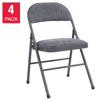 Maxchief Upholstered Padded Folding Chair 4 Pack Folding Chair Chair Padded Folding Chairs