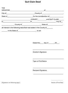 Quitclaim Deed Form Free Printable Quitclaim Deed Template 8ws