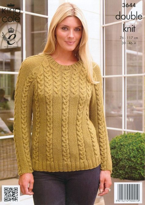 238363fd7 Cardigan and Sweater in King Cole Baby Alpaca DK - 3644