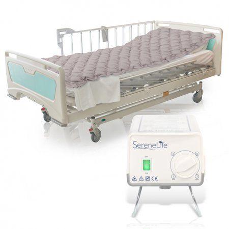 Serenelife Slairmatr45 Hospital Bed Air Mattress Bubble Pad Mattress With Electric Air Pump Walmart Com Bed Mattress Air Mattress Hospital Bed