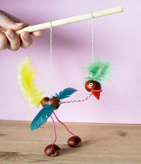 Anleitung: Bastelt eine Vogel-Marionette!