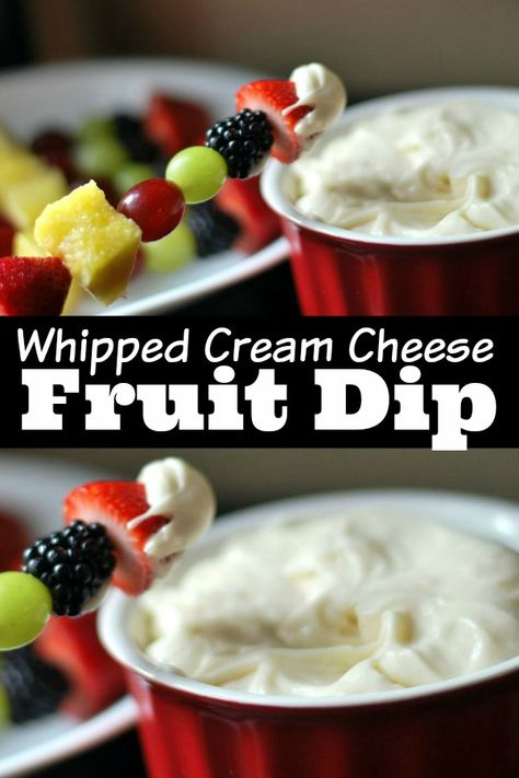 Cream Cheese Fruit Dip, Whipped Cream Cheese, Cream Cheese Recipes, Cool Whip Fruit Dip, Easy Fruit Dip, Recipe For Fruit Dip, Fruit Dips, Fruit Dip Healthy, Fruit Appetizers