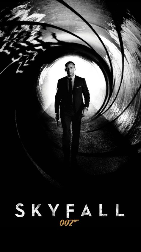 James Bond Iphone Wallpaper Wallpapersafari S Izobrazheniyami Poster Filma Skajfol Filmy
