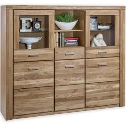 Highboard Wildeiche Teilmassiv 155 Cm Roller In 2020 Highboard Holz Sideboard Modern