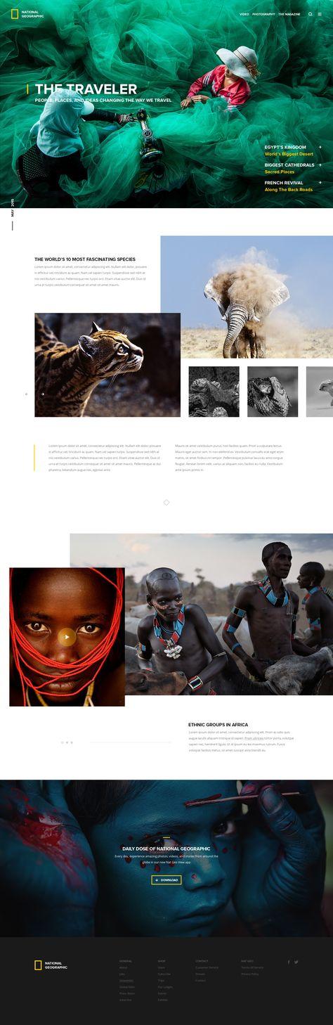 National Geographic Splash Page
