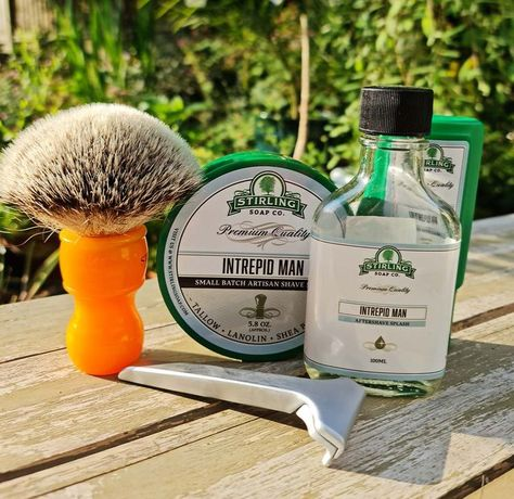 Stirling Intrepid Man is based on Creed Santal Absolut, a fantastic scent, lather and post shave feel..