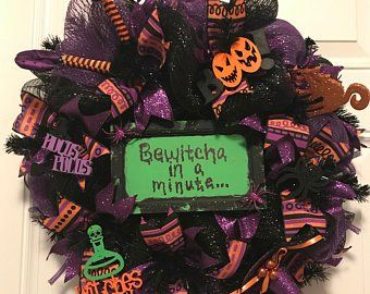 Bewitcha In A Minute Etsy Crafts Halloween Wreath Handmade