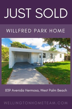 Willford Park Home Sold 839 Avenida Hermosa West Palm Beach Fl 33405 West Palm Beach Florida West Palm Beach Park Homes