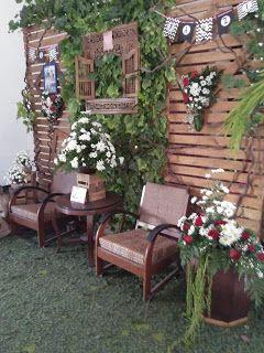 dekorasi pernikahan dari bambu