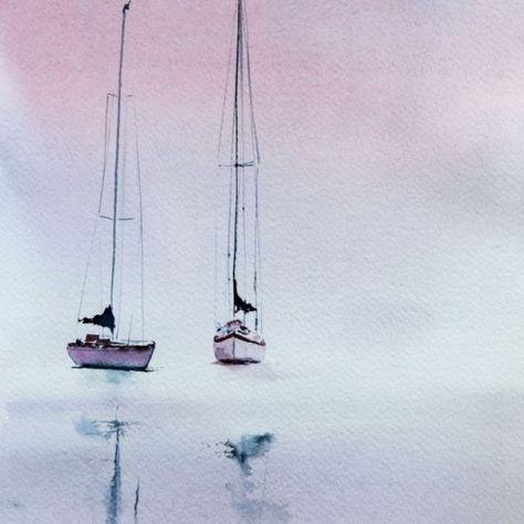 "A landscape made in Montreux, Switzerland. Fabriano ""Artistico"" paper, 59.4cm x 42cm, watercolors."