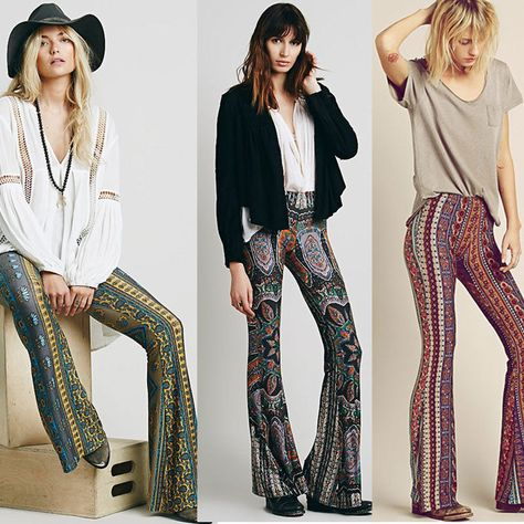 1b58823d05f037 High Waist Long Paisley Sexy Bell Bottom Flare Stretch Boho Hippie Pants  Trouser #Unbranded #BellBottom