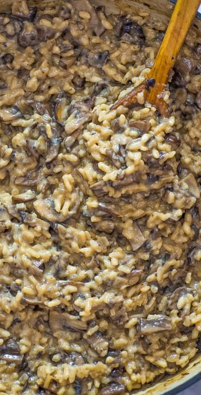 Classic Mushroom Risotto Recipe (Video)