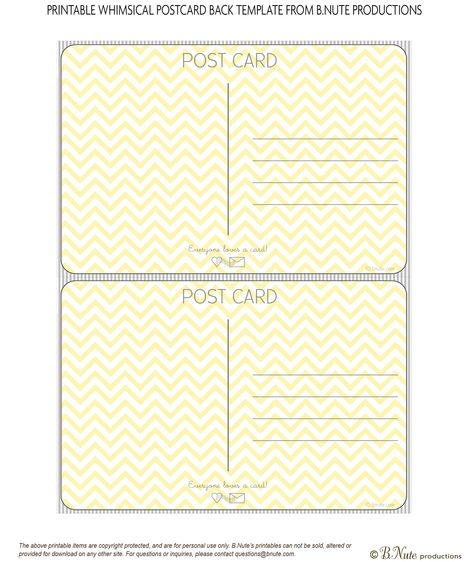 postcard template Journey to Love Pinterest Postcard - postcard template