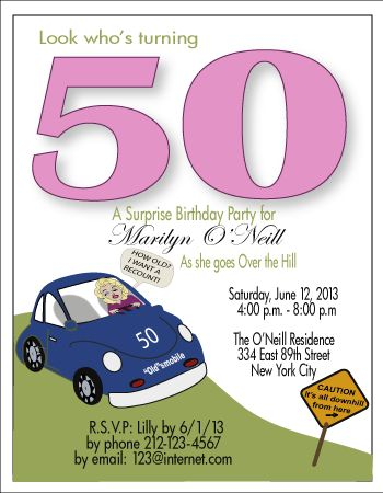 50th Birthday Party Invitation Templates For Women