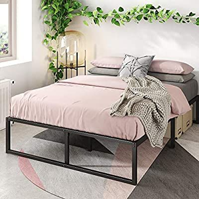 Amazon Com Zinus Lorelei 14 Inch Platforma Bed Frame Mattress Foundation No Box Spring Needed Steel Slat In 2020 Bed Frame Mattress Bed Frame Metal Platform Bed