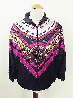 Vintage AMAZING Tribal Ethnic Shellsuit Tracksuit Top Jacket Large