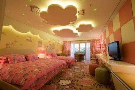 ديكورات جبس اسقف غرف نوم اطفال Kids Bedroom Designs Pop Ceiling Design Bedroom False Ceiling Design