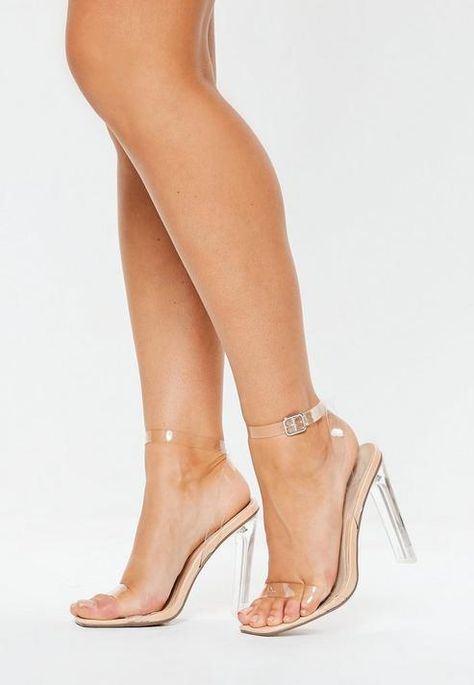 Missguided Nude Square Toe Clear Heels Source by Nude Heels, Stiletto Heels, Stilettos, Frauen In High Heels, Giuseppe Zanotti Heels, Platform High Heels, High Shoes, Fab Shoes, Women's Shoes