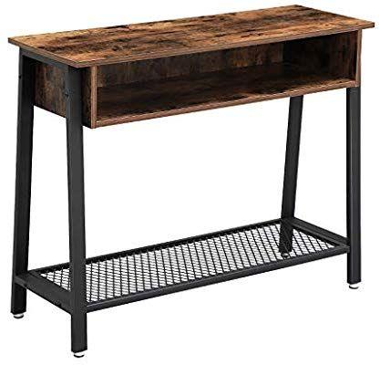 Amazon Com Vasagle Vintage Sofa Table Console Table With Mesh