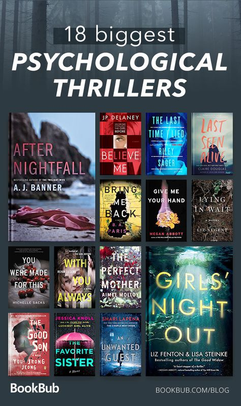 These best books from 2018 are perfect for fans of Gone Girl and author Ruth Ware. They will spook you make you question everything that you know.