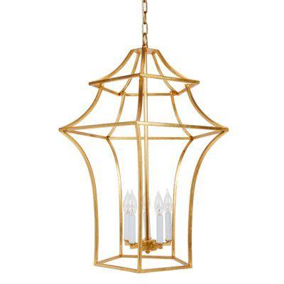 Light Lantern Geometric Chandelier In
