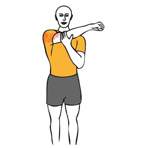 Estiramiento de hombro con brazo en aducción horizontal ...