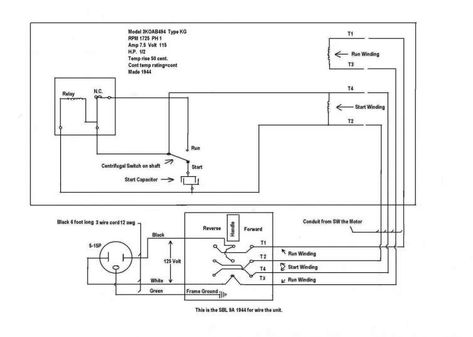 12 General Electric Induction Motor Wiring Diagram Electrical Diagram Electric Motor Electric Furnace